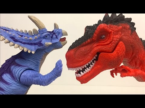 KID CONNECTION - DINOSAUR SAFARI PLAYSET - T-REX OR TYRANNOSAURUS  AND TRICERATOPS -UNBOXING