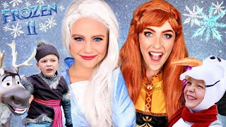 Disney Frozen 2 Elsa, Anna, Kristoff and Olaf Dress Up and Adventure Into the Unknown