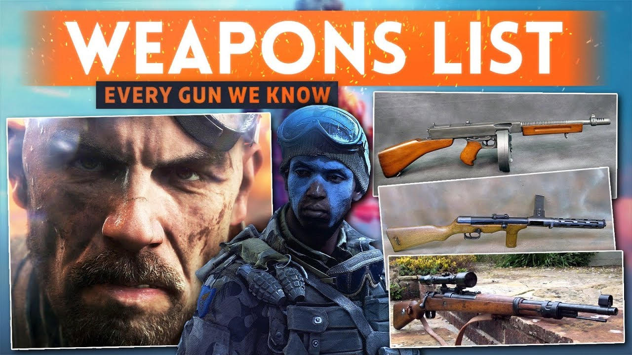 EVERY WEAPON & VEHICLE We Know So Far! Battlefield 5 Early Weapons List