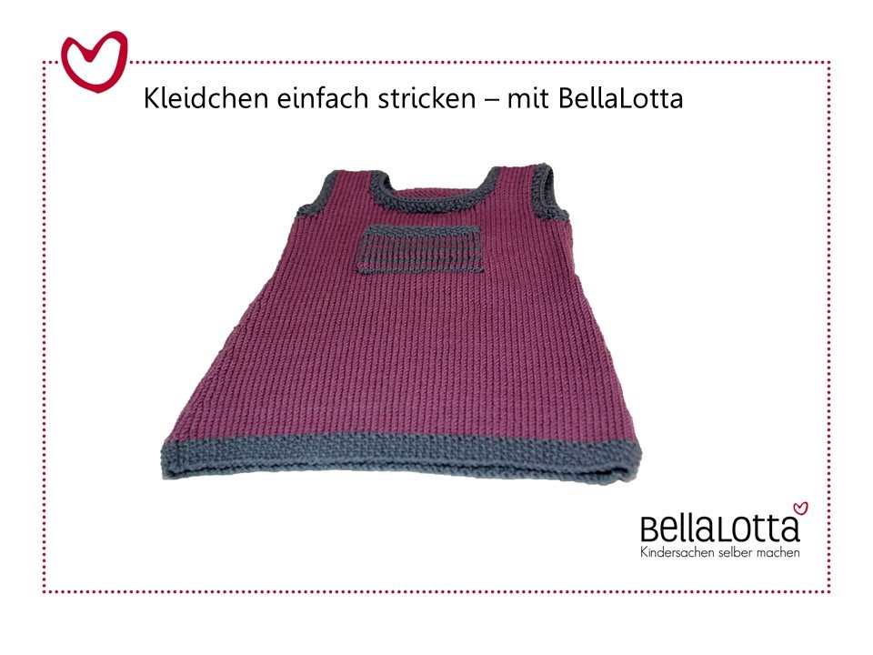 Babykleid einfach stricken - YouTube