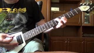 Простой риф №7 (риф на электрогитаре для начинающих гитаристов)