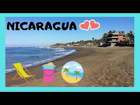 NICARAGUA, the most spectacular BEACH of Las Peñitas on the PACIFIC OCEAN