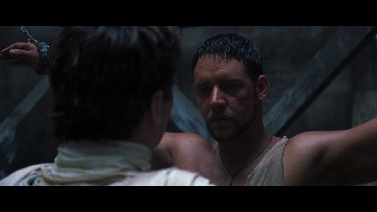 Hd Re Cut Gladiator Death Smiles At Us All Clip Youtube