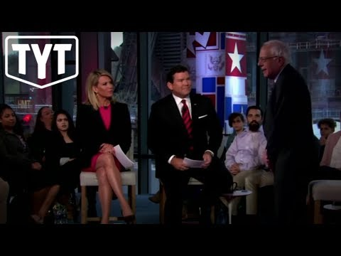 Bernie Sanders Mocks Fox News Tax Cut Attack During Town Hall