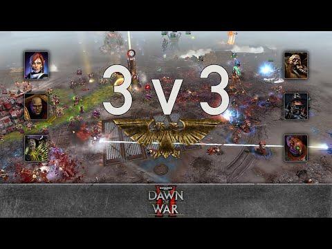 Dawn of War 2 - 3v3 | JekkuJerre + combustible orange + boss [vs] Mushraam + ben1993 + uphighdow3