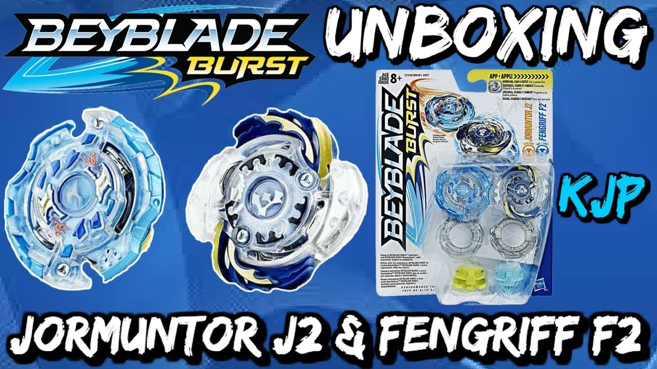 Beyblade Burst Unboxing, QR Codes, and Test (Jormuntor J2 and Fengriff F2) #1