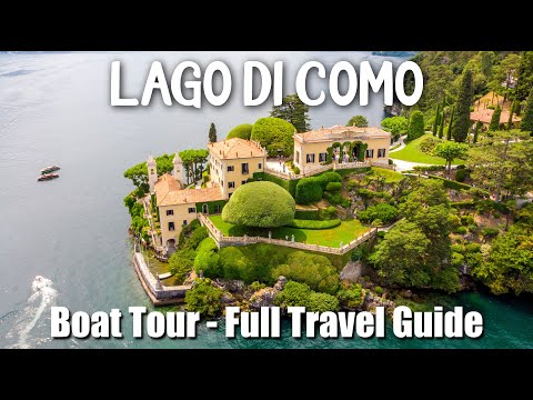 Northern ITALY's Most Beautiful Region: LAKE COMO - Boat Tour / Villas - Full Travel Guide