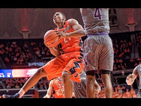 Illinois Basketball Highlights vs Northwestern   2/21/17