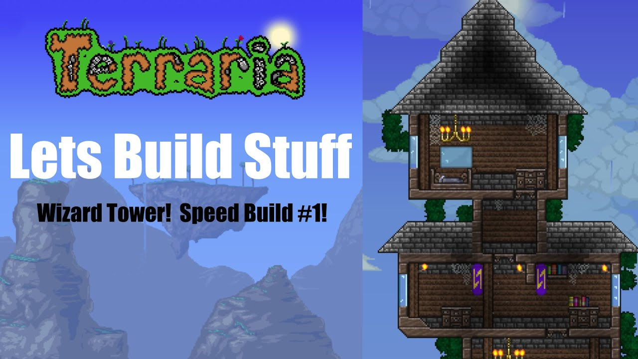 [TERRARIA SPEED-BUILD #1] Medieval Wizard Tower! - YouTube