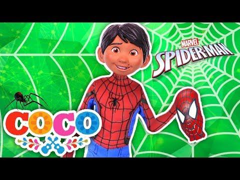 MIGUEL de COCO se convierte en SPIDERMAN🕷el  SUPER HEROE de Santa Cecilia!- Juguetes Fantásticos