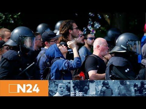 G-20-Proteste: Straßenblockaden in Hamburg überlasten Polizei