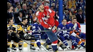 Овечкин выиграл конкурс на силу броска в мастер-шоу Матч всех звёзд NHL 2018
