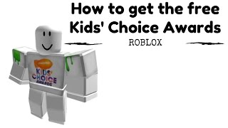 ROBLOX - Cómo obtener la camiseta gratuita Kids' Choice Awards (Link in Desc)