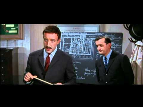 Clouseau explains the facts to Hercule