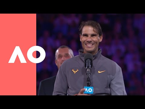 Rafael Nadal runner-up speech (Final) | Australian Open 2019 ...