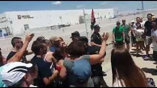 Cargas policiales durante la huelga del Prime Day de Amazon
