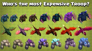 Who's the most EXPENSIVE Troop? Cost of Troops in Clash of Clans | Clash of Clans
