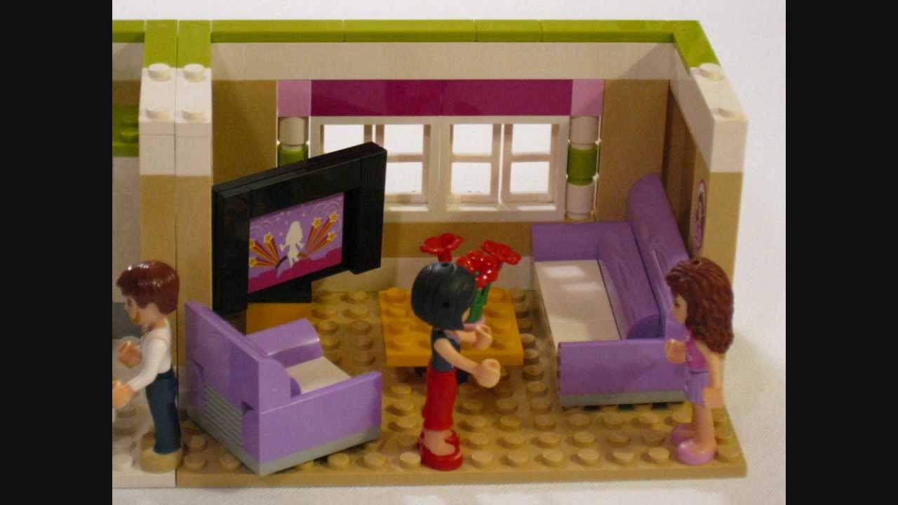 HD Building LEGO Friends  Olivias House YouTube - Lego house interior