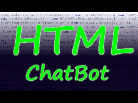Easy ChatBot In HTML & JS