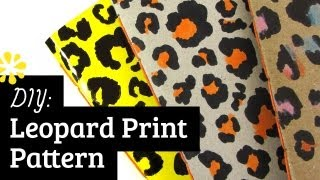 DIY Leopard Print Pattern | Sea Lemon