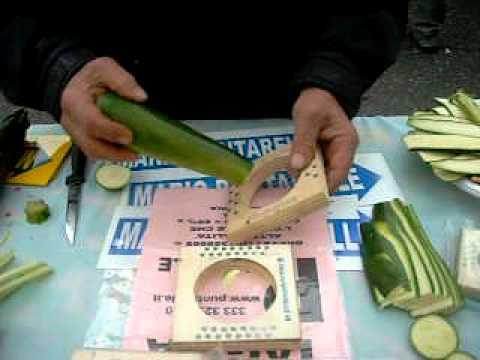 Affetta verdure zucchine alla brace taglio barbecue youtube - Taglio alla julienne ...
