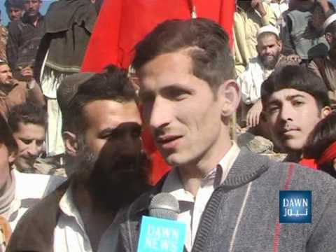 Pakistan- Mansehra Report on CM Ameer Hydar Khan Hoti Visit District Torghar- DAWN TV.