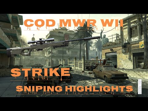 CoD MWR Wii: Strike Highlights - Sniping ONLINE Active MWR Wii Servers In 2020!