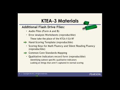 Overview Of The KTEA 3 Part I YouTube