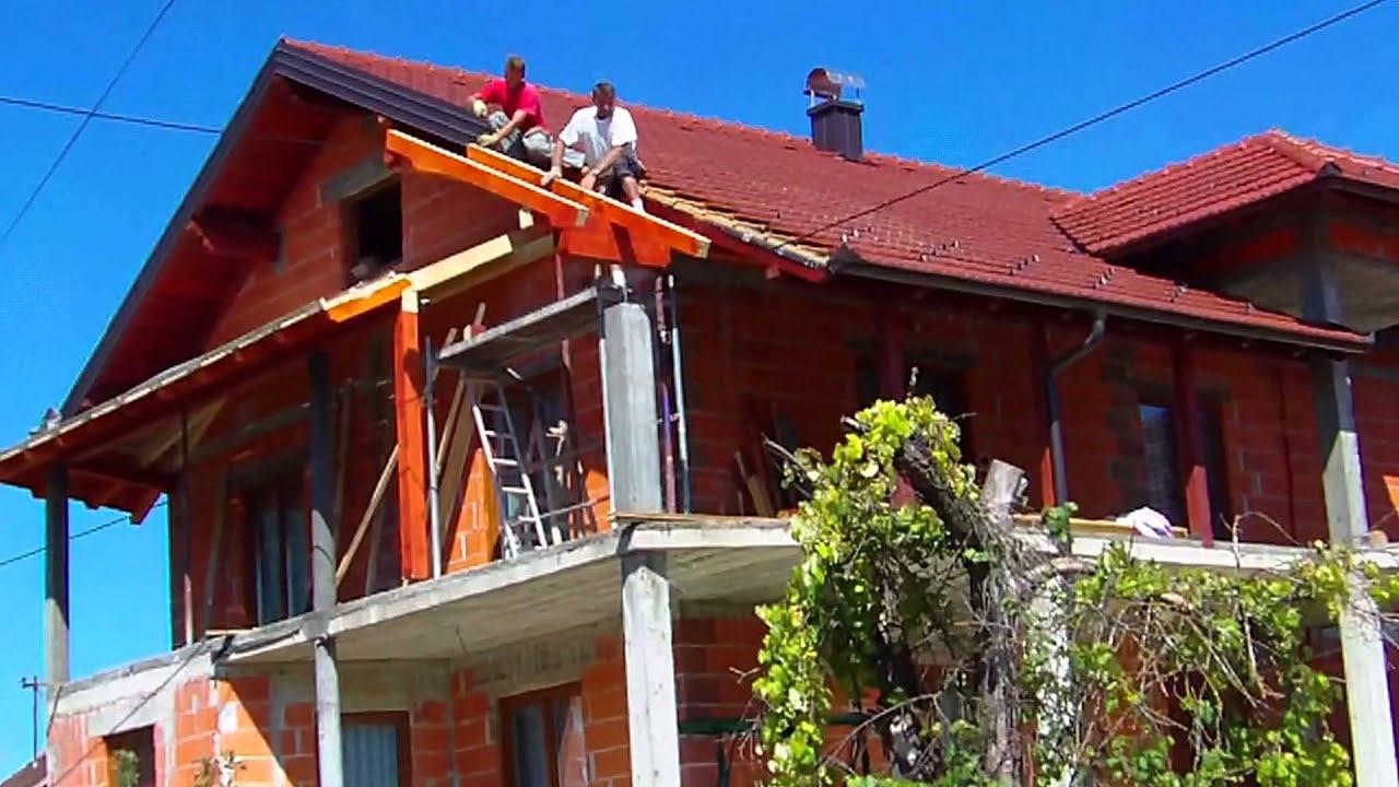 natkrivanje balkona toiture sur un balcon dach auf einem. Black Bedroom Furniture Sets. Home Design Ideas
