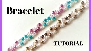 Simple beading pattern. Making jewelry at home. Fast , easy and fun!