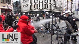 Grève générale et manifestations / Bruxelles - Belgique 15 décembre 2014