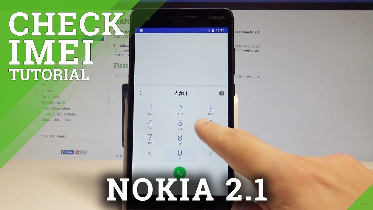 How to Check IMEI on NOKIA 2 1 - Serial Number / IMEI Info |HardReset Info