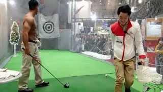 2015/02/14(sat)のジャパンゴルフフェア2015のユピテルブースに和田正義...