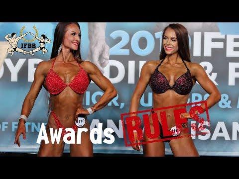 IFBB Rules, номинация фитнес-бикини, версия 2019 года - Награждения / Awards.