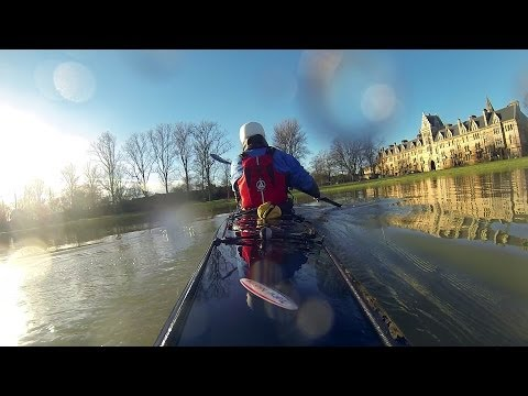 Kayaking the Oxford Floods 2014 - River Thames, UK