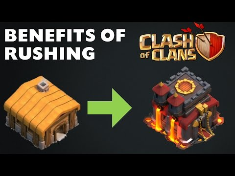 Why Should You Rush Your Town Hall In Clash of Clans | BENEFITS OF RUSHING