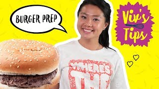 How to Make a Burger for One 🍔 VIV'S TIPS