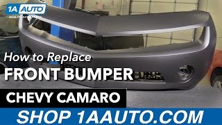How to Replace Install Front Bumper Replacement 11 Chevy Camaro