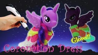 Glow in the Dark Twilight Sparkle Coronation Dress 3D Pen Custom MLP DIY
