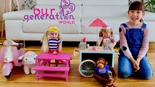 Baby Dolls & Our Generation Toys Kids Imagination Play Ice Cream Shop and Beach House