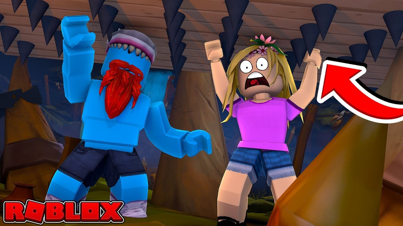 THE CRUSHER IS COMING FOR US!! Sharky Roblox w/ Little Kelly