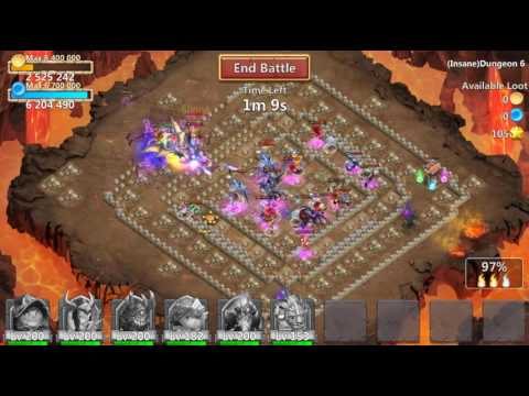 [Hot] Castle Clash Insane Dungeon 6.10 | No Ice Demon | No Slowdown | F2P