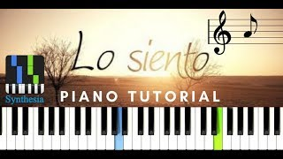💝Beret-Lo siento(Piano tutorial)|Cover|Melodía y acompañamientos.