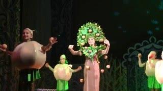 Танец золотой яблони и яблочек. Новогоднее представление
