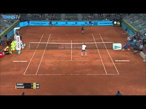 Andy Murray Hot Shot Madrid 2015 vs. Raonic 1-2 Punch
