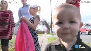 Hero kids get surprise after saving baby brother