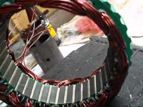 ac alternator diagram alternator stator coil winding youtube ac wiring diagram with dual electric fans #7