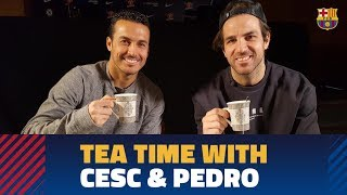 We speak with Cesc and Pedro before Chelsea-Bara