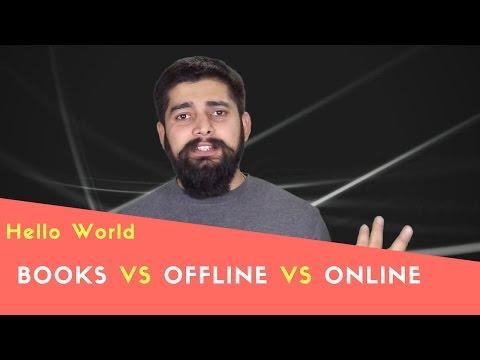 Books Vs Offline Vs Online learning programming thumbnail