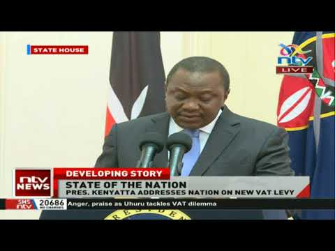 President Uhuru Kenyatta Proposes Reduction Of Fuel Levy From 16% To 8%